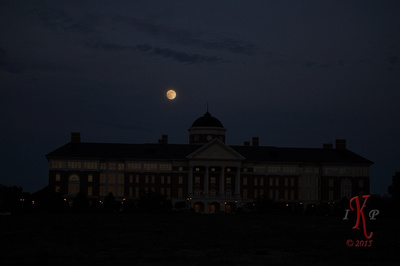 Supermoon Rises Over Cannon Research Facility in Kannapolis, NC